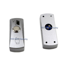 Botón de salida de puerta, Placa de Aleación de liberación, botón de acero, interruptor montado en superficie de 12 V 36 V para todo tipo de marco de puerta estrecha