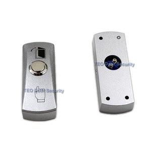Image 1 - Botón de salida de puerta, Placa de Aleación de liberación, botón de acero, interruptor montado en superficie de 12 V 36 V para todo tipo de marco de puerta estrecha