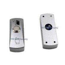 דלת לחצן יציאה Push שחרור סגסוגת צלחת פלדה כפתור מתג משטח רכוב 12 v 36 v עבור כל סוג של צר דלת מסגרת