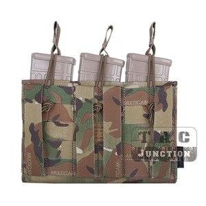 Image 4 - حقيبة إيمرسون التكتيكية الثلاثية المفتوحة 5.56 & مسدس مجلة الحقيبة ايمرسونجير مول/PALS ماج الحقيبة الحافظة الناقل Airsoft العسكرية