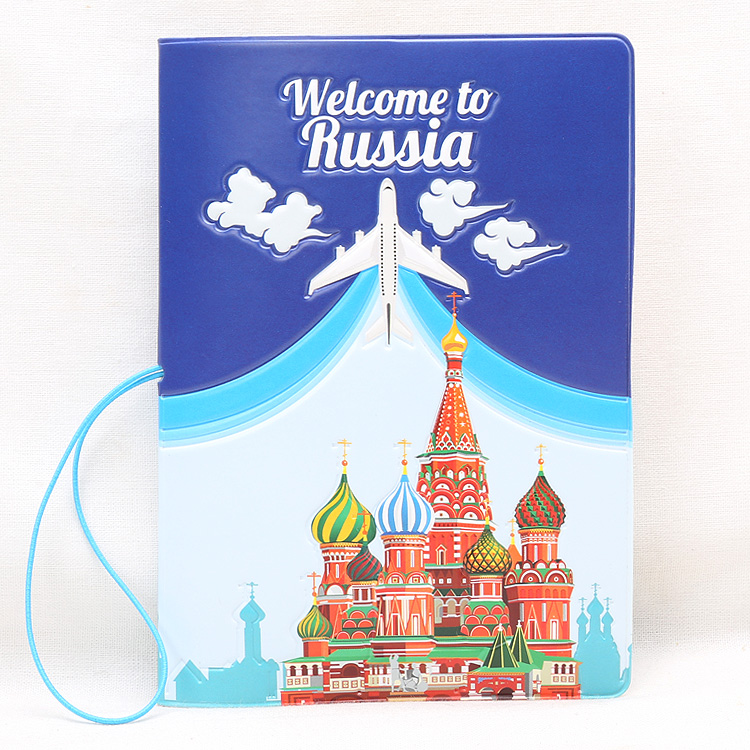 Hot Overseas Travel Accessories Passport Cover, Luggage Accessories Passport Card-Russian Pattern