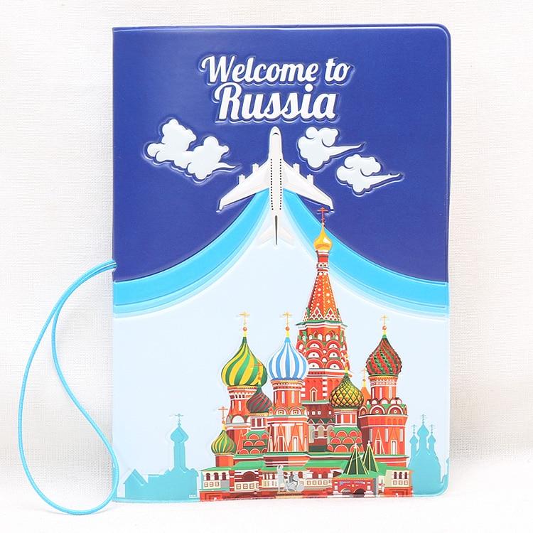 Hot Overseas Travel Accessories Passport Cover, Luggage Accessories Passport Card-Russian Pattern