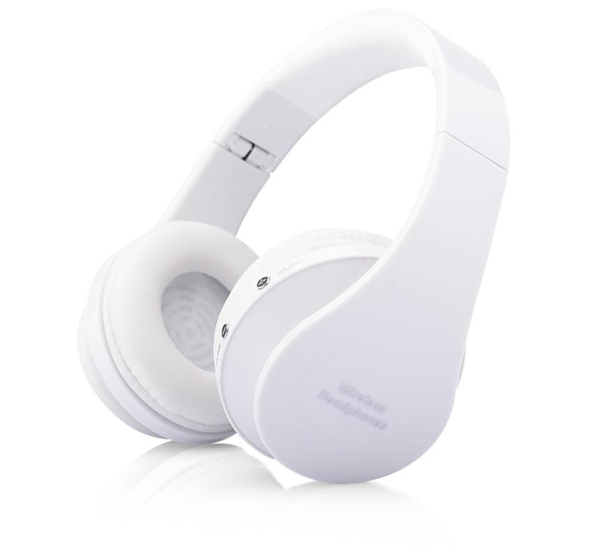 MidCreat 8252, беспроводная Bluetooth гарнитура, складные наушники, Bluetooth наушники, шумоподавление с микрофоном для спортивной музыки - Цвет: Белый