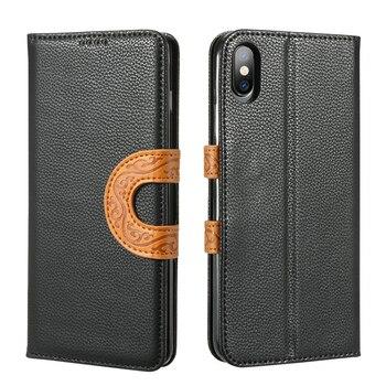 iPhone XS Max Case Leather Premium Wallet 1