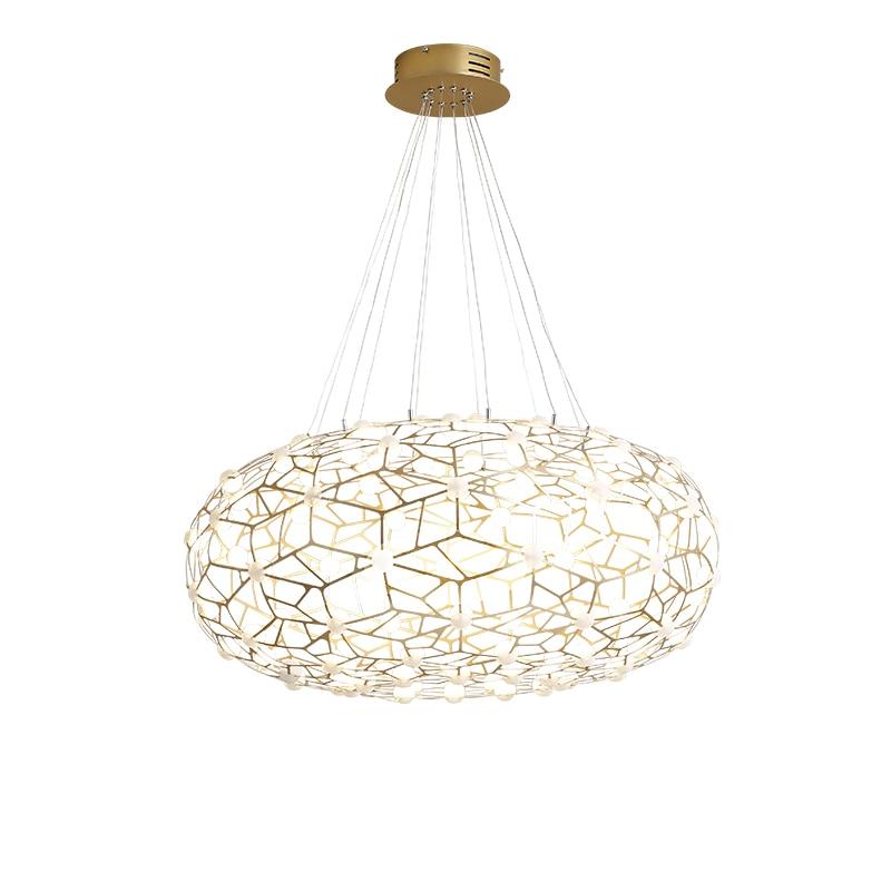 Nordic LED Pendant lights Post Modern Light luxury Designer Gold Bird nest Simple Bedroom Living room Creative Lighting fixture
