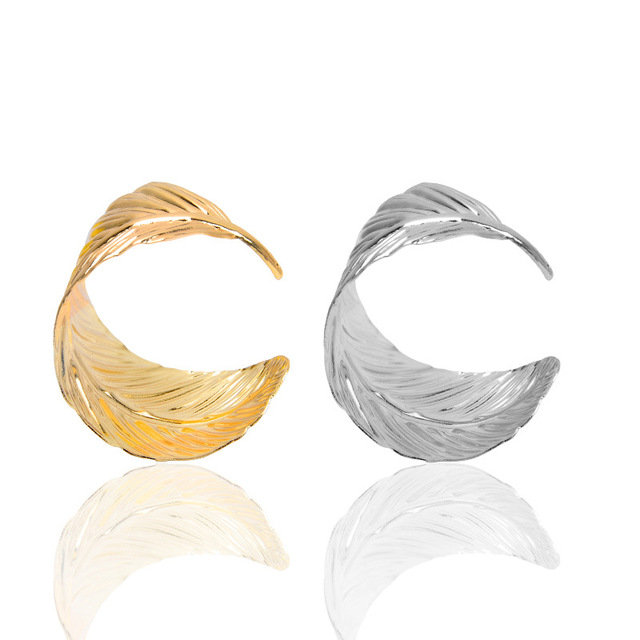 Feather Shaped Cuff Bracelet