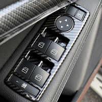 5 stücke Carbon ABS Fensterheber Schalter Taste Rahmen Trim Für Mercedes-Benz A B C E GLE GLA CLA GLK Klasse W176 W204 W212 W166 W218