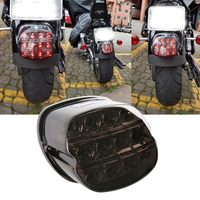 Motorcycle LED Brake Tail Light License Plate Lamp For Touring Road King Electra Road Glide
