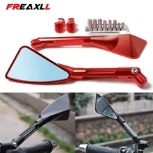 Universal Motorcycle Mirror Side Rearview Motorcycle Accessories For HONDA CBR 600 F2 F3 F4 F4i CBR900RR CBR1000RR CBR954RR стоимость