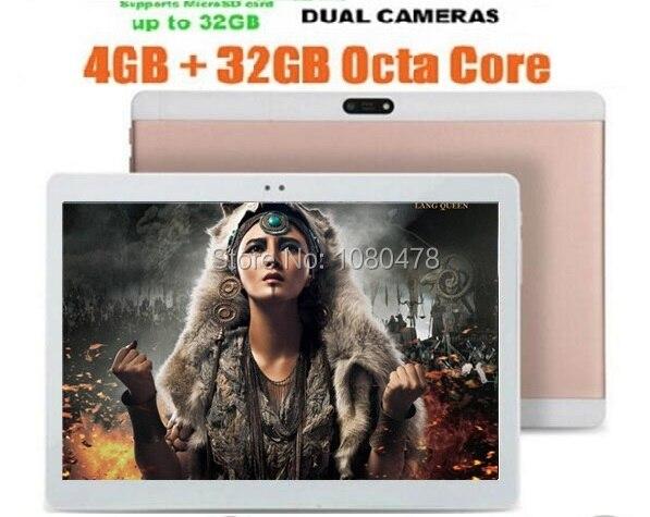 10 inch Android Tablet Octa Core 1280x800 IPS Display 4GB RAM 32G ROM Dual SIM Card Pad WiFi Bluetooth GPS Tablets DHL Free