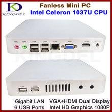 New arrival Intel Celeron 1037U Dual Core 1.8GHz Thin Client PC, Mini Computer, 2GB RAM 32GB SSD, WiFi, 1080P HDMI, Fanless