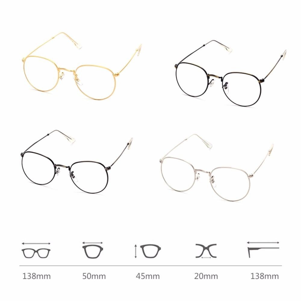 Vintage Männer Frauen Brillen Rahmen Gläser Runde Brille Klare Linse ...