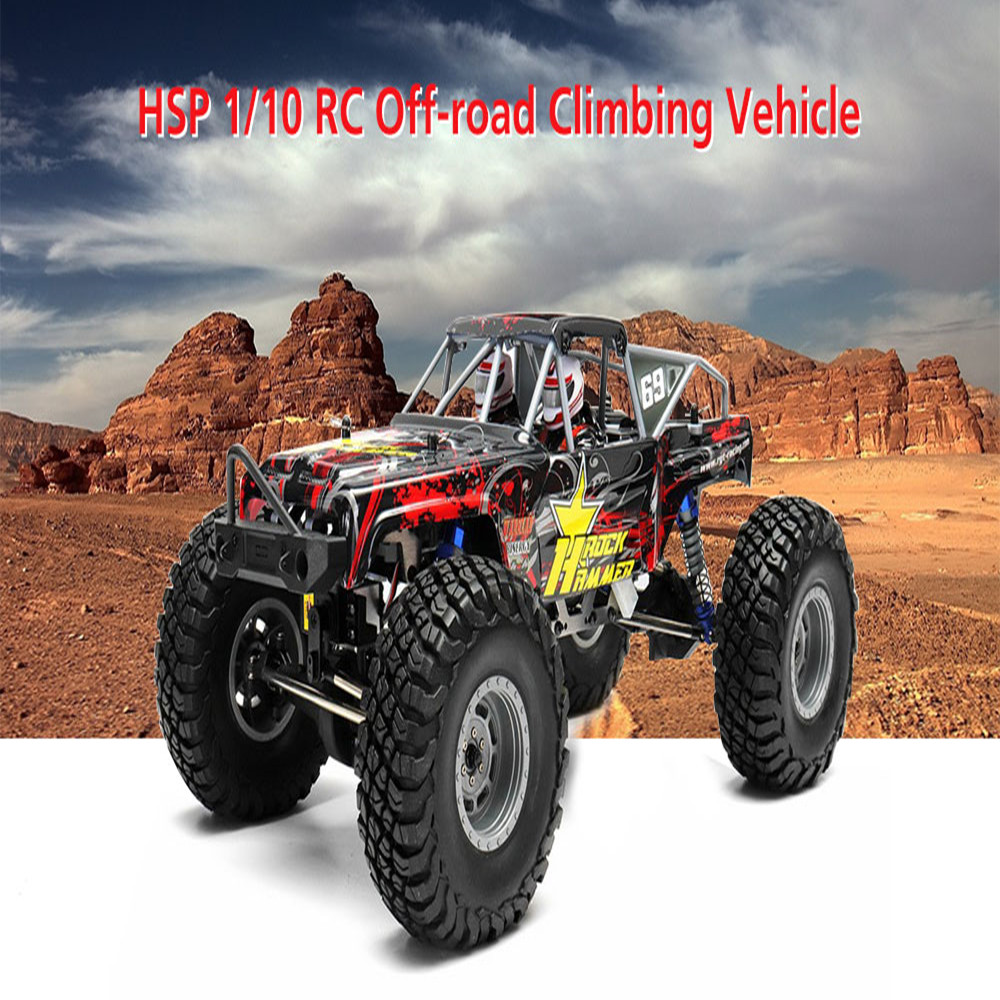 HSP 1/10 4WD RC Cars Toys 2.4GHz Wireless Control Off-Road Car With Headlight RTR 2000mAh Climbing Vehicle For ChildrenHSP 1/10 4WD RC Cars Toys 2.4GHz Wireless Control Off-Road Car With Headlight RTR 2000mAh Climbing Vehicle For Children
