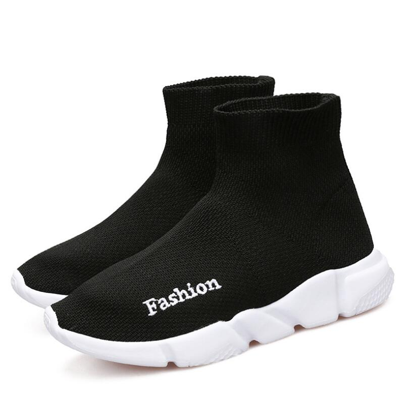 HOBIBEAR New Technology Student School Shoes Kids Sock Sneakers For Boys Girls Mesh Casual Shoes Breathable Light Weight