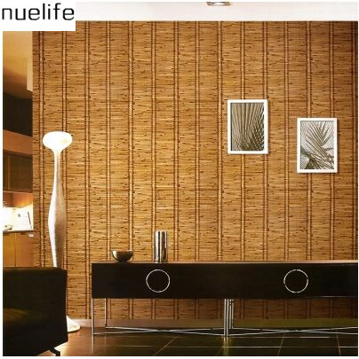 Chinese style wallpaper classical bamboo texture Chinese style living room study wall wall decoration wallpaper