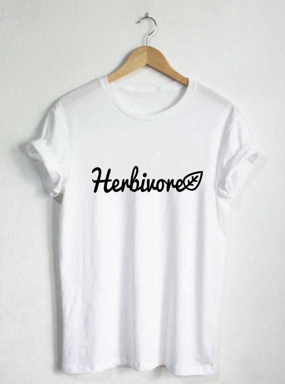Herbivore Shirt - Dames shirts, Unisex T-stukken, Plantaardige - Dameskleding