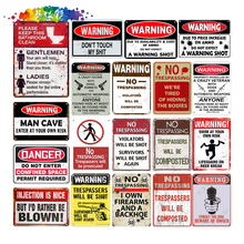 Moura color WARNING DANGER Metal Tin Sign Wall Plaque Poster Painting Christmas PlaqDecor Art