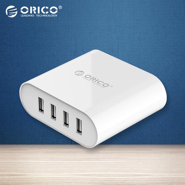 ORICO 4 Portas Mini Smart Carregador 5V2. 4A * 4 6A 30 W Máxima de Saída para Telefones celulares e comprimidos-Branco (DCH-4U)