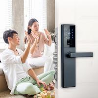HOJOJODO k1 Smart Digital клавиатуры кодовый дверной замок 4 в 1 микросхемой чипом микропроцессорные карты/отпечатков пальцев замок с ключом