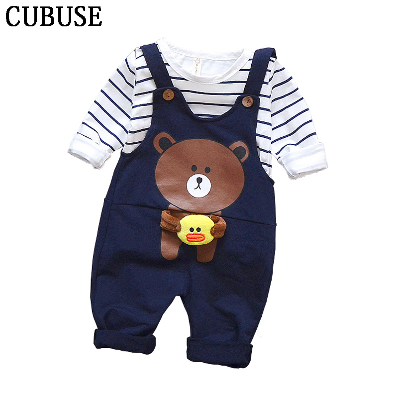 136138d60 Outono Bebê menino roupas bebe meninos roupas definir pouco Infantil da  roupa do bebê Do Bebê infantil Meninos camisa Listrada T + macacão calças