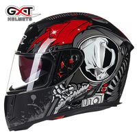 GXT 358 moto helm anti-fog dual lens full face motorcross helm vintage motorhelm iron man helm fox casque ktm