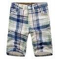 2017 летний новый мужские шорты случайные Корейской мужская повседневная прямые джинсы для мужчин пять короткие клетчатые комбинезоны заводские магазины за пределами