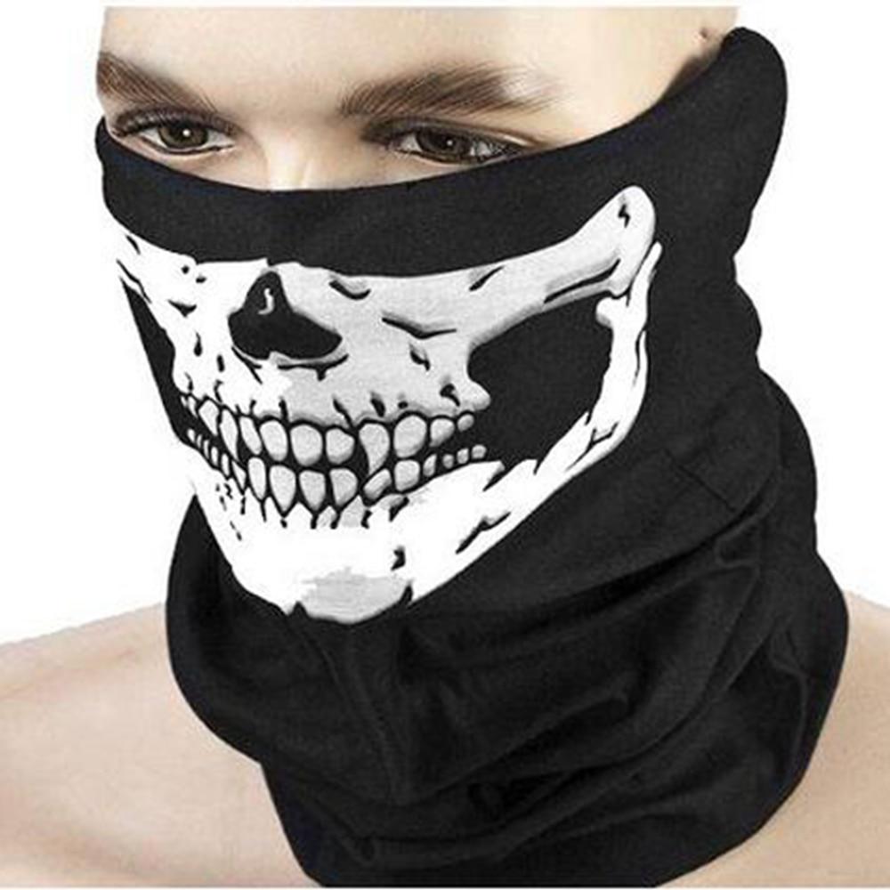 Skull Mask Outdoor Half Face Tube Skeleton Scarf For Motorcycle Halloween Mens