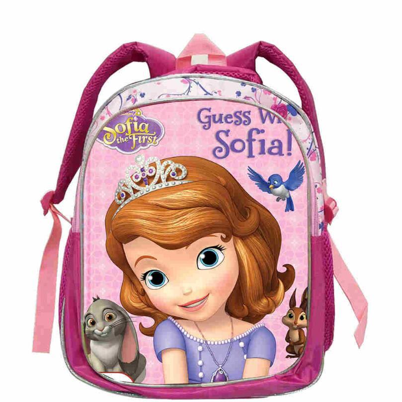 12inch Toddler Mochila Child Princess Cartoon School Bag Kids Fashion Princess Sofia Backpack Small Girls Baby Bag
