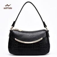 ADIYATE Mode Lederen Tas Satchel Tas Luxe Handtassen Winkel Online Handtassen Vrouwelijke Gift Vrouwen Messenger Bags Goedkope