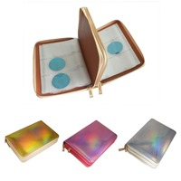 1 Pcs 336 Slots Stamping Plate Holder Case Rainbow Gold Silver Rose Round Square Nail Art Plate Organizer