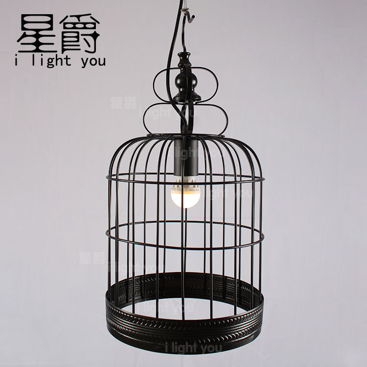 Nordic Loft Industrial Vintage Bird Cage Edison Ceiling Lights Metal Droplight Cafe Store Hall Dining Room Bar Restaurant Lamp loft edison vintage retro cystal glass black iron light ceiling lamp cafe dining bar hotel club coffe shop store restaurant