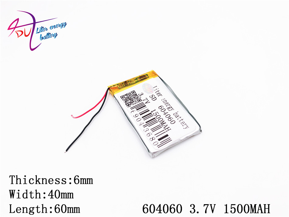 Digital Batterien Unterhaltungselektronik 3,7 V Lithium-polymer-batterie 064060 604060 1500 Mah Liter Energie Batterie Mp3 Mp4 Mp5 Gps Bluetooth Kleine Spielzeug