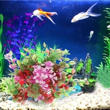 Aquarium Grama Artificial Colorful Decorate With Ceramic Base Fish Tank Aquario Decoration Aquatic Plants Background
