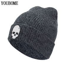 YOUBOME Winter Hat Women Men Skullies Beanies Knitted Hats For Men Mask Skull Female Gorros Bonnet Soft Autumn Beanie Hat Caps цена в Москве и Питере
