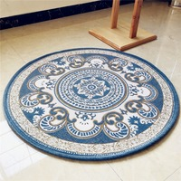 Dorni Jacquard Round Carpet Living Room Computer Chair Round Rug Home Entrance/Hallway Doormat Hanger Carpets Coffee Table Rugs