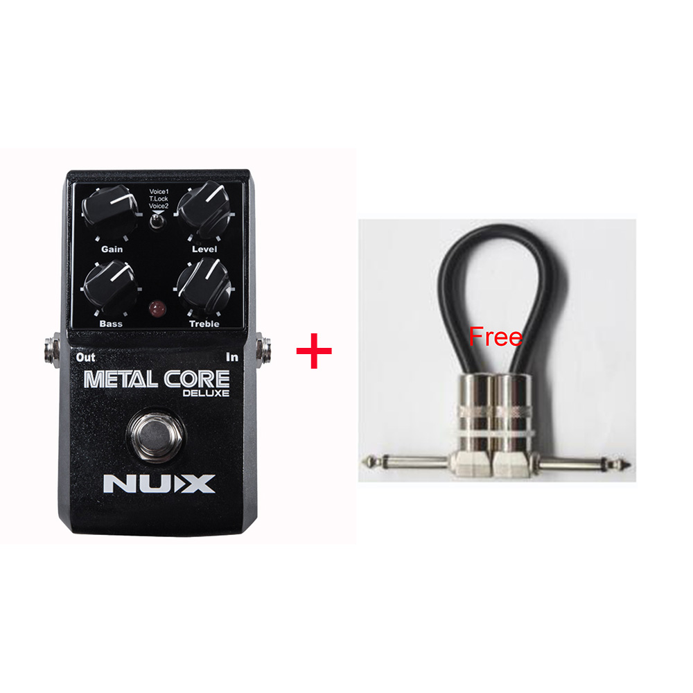 NUX Metal Core Deluxe Distortion Guitar Effect Pedal 2-Band EQ Tone Lock Preset Function With True Bypass + Free Cable nux metal core distortion effect pedal true bypass guitar effects pedal built in 2 band eq tone lock preset function guitar part