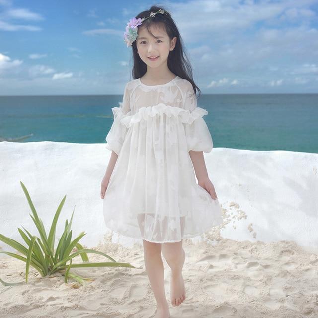 Vestido Blanco Playa Perfect Compra Lados Femeninos De Encaje
