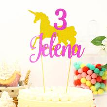 Unicorn Cake Topper Glitter Party Decor Gold Birthday Decorations Supplies