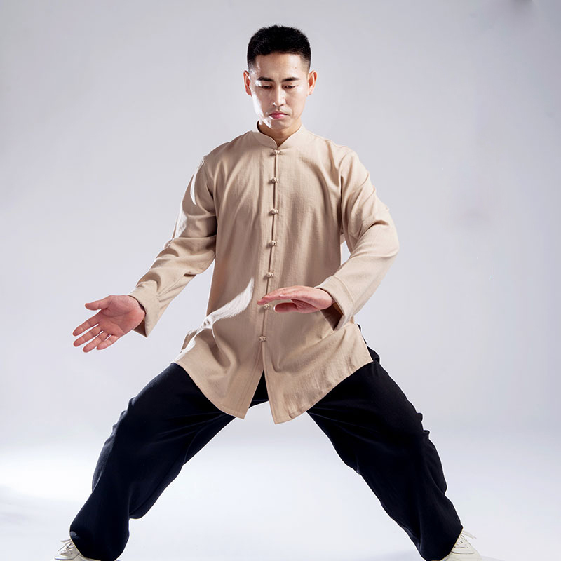 98 Autumn And Tai Chi Clothes Men And Women Thickening Cotton Martial Performance Morning Exercises In Customs Boxing Clothing