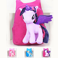 Nova Marca de Alta Qualidade 3D Bonito My Little Pony Minion Ombro Saco Dos Desenhos Animados Saco de Escola das Crianças Mochila de pelúcia para As Crianças Satchel