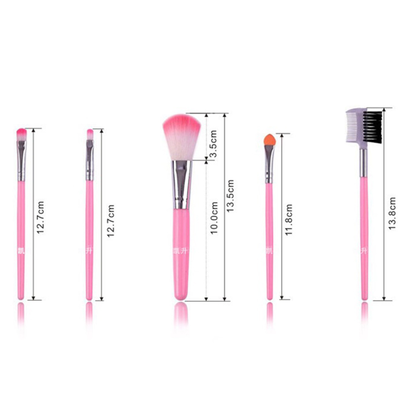 HUAMIANLI 5pcs Makeup Brush Set for Full Eye and Face Makeup Suitable for Eye Shadow Foundation and Compact 2