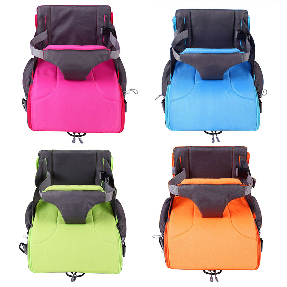 2 IN 1 Portable baby Booster Seats Diaper Bag for Mom Baby Chair Feeding Mama Nappy Bag Foldable Diaper Backpack
