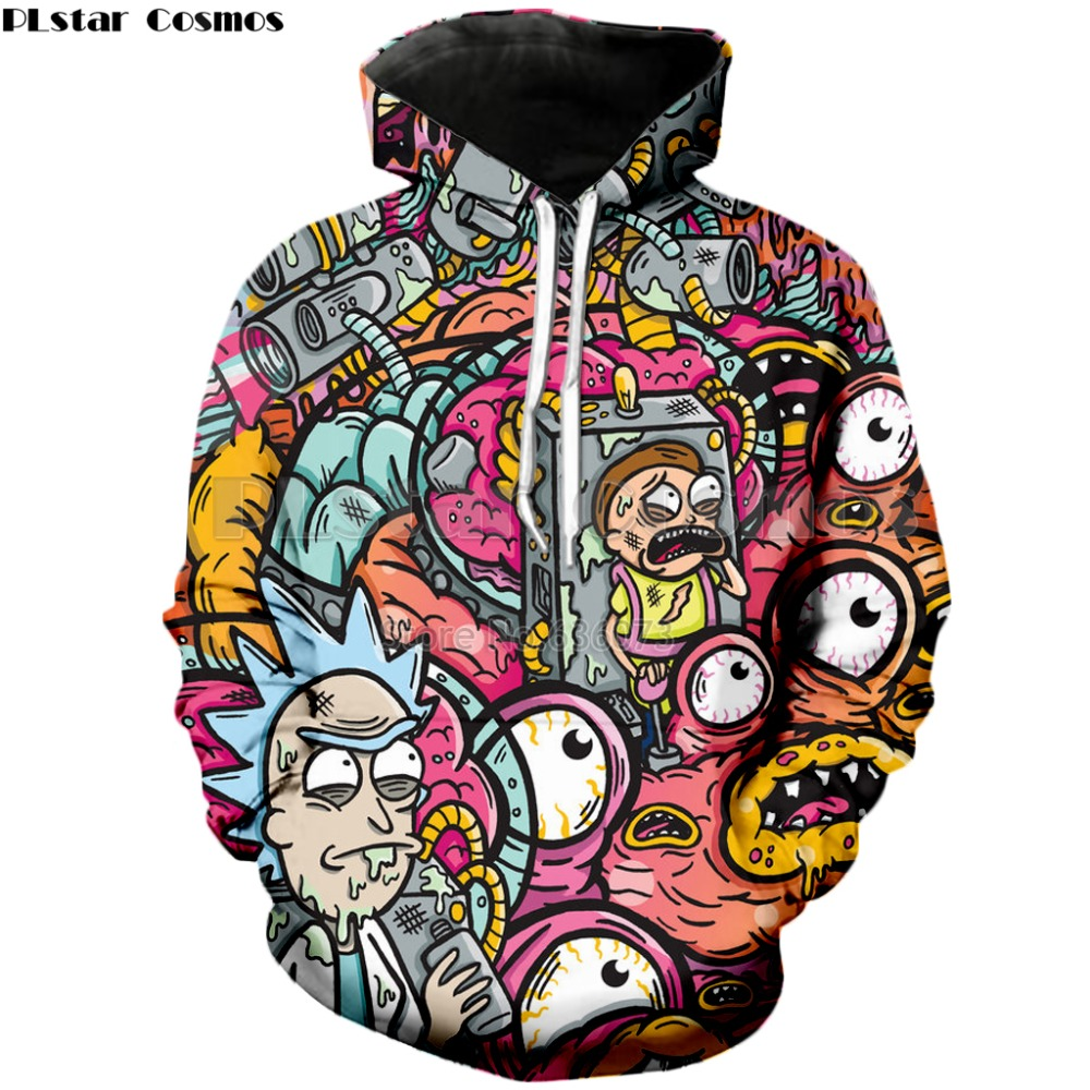 New Fashion Autumn Cartoon Rick and Morty 3D Hoodies