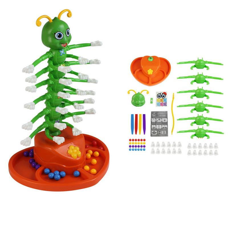 Assembled Competitive Electric Wiggle Worm Desktop Game Parent-child Family Funny Screaming Tricky Toy