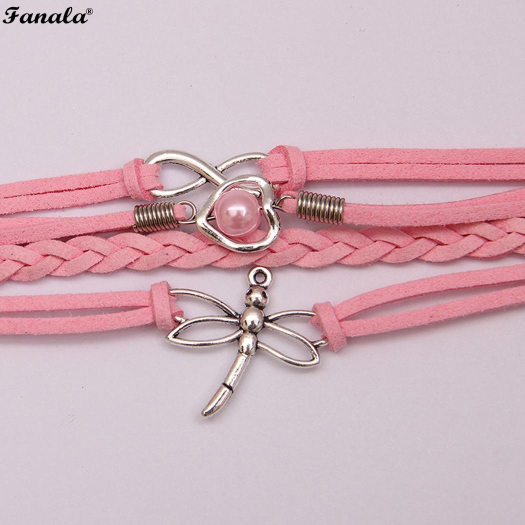 Women Rope Love Dragonfly Bracelet for Alloy Girl