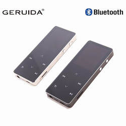 GERUIDA MP4 Player Bluetooth Radio HIFI MP4 8GB Touch Screen Multi-language  Scratch-proof Sport MP4 Video Player With Armband