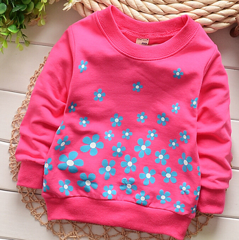 (1piece /lot) 100% cotton 2018 Cute sweet flower  baby outerwear