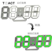 Цифровые настенные часы 3D светодиодный Будильник 24 или 12 часов Дисплей многоцветные настольные домашние декоративные часы reloj de pared Digital