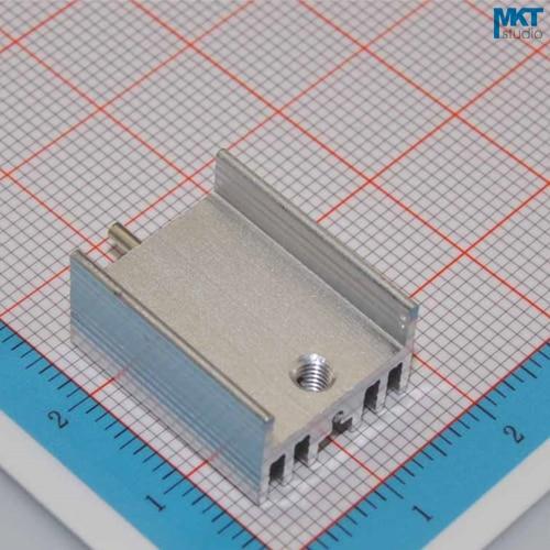100Pcs H-Type 15mmx10mmx20mm Pure Aluminum Cooling Fin Radiator Heat Sink