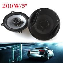 5 «127 мм 4ohm 200 Вт Автомобиль Коаксиальный Громкоговоритель Аудио Музыка Стерео 2 Полосный Громкоговоритель для Автомобиля Двери сабвуфер